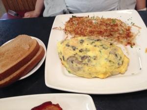 pancake cafe mushroom omelet