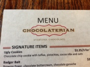 choco menu