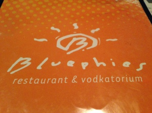 Bluephies menu