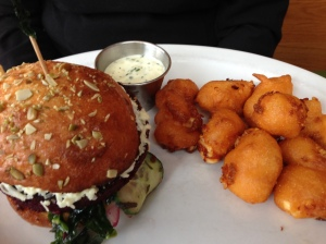 Graze beet walnut burger