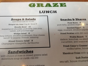 Graze lunch menu