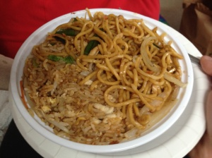 Orient House chicken lo mein lunch special