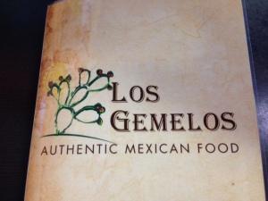 Los Gemelos menu
