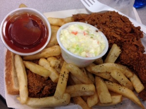Harold's Chicken Shack 1/4 chicken meal