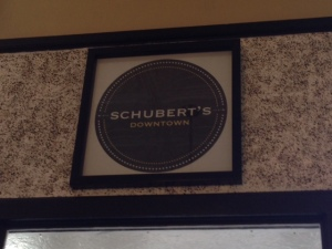 schubert's inside sign