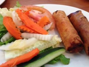 Saigon Noodles egg rolls