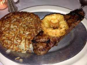 New York strip steak with hashbrowns