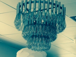 Short Stack Eatery chandelier