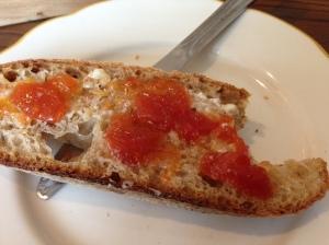 Hazelnut Cafe bread, tomato marmalade