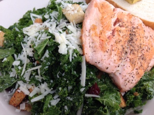 Flying Hound kale and salmon salad