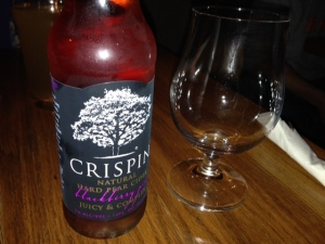 Crispin blackberry, pear cider