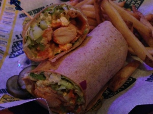 Quaker Steak and Lube grilled chicken wrap