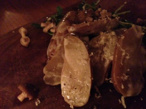 Forequarter warm potato salad