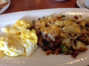 Wisconsin skillet at Coppertop Family Restaurant