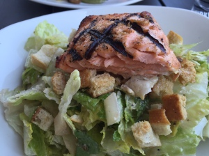 Bonefish caesar salad with salmon