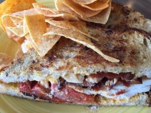 Crema Cafe hot chick sandwich
