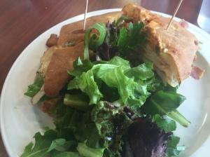 La Petit Croissant spicy turkey sandwich