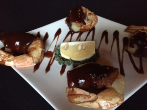Wander Bar BBQ bacon wrapped shrimp