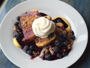 Lemon bread blueberry french toast