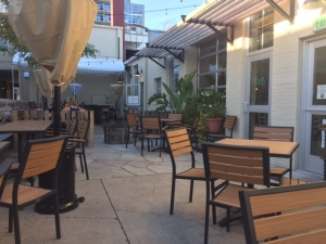 Julep's back patio